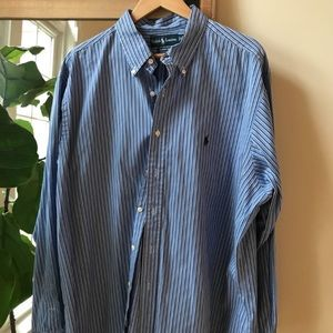 Polo by Ralph Lauren Blue Striped Button Down